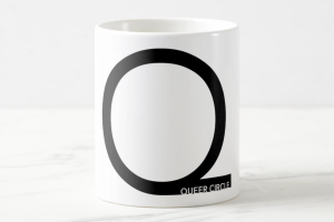 Mug with Queer Circle Podcast logo